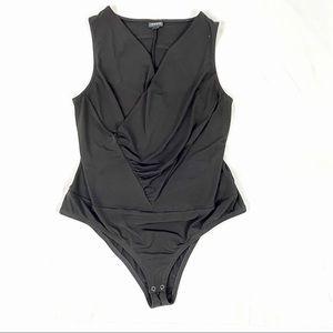 TORRID black studio surplice bodysuit